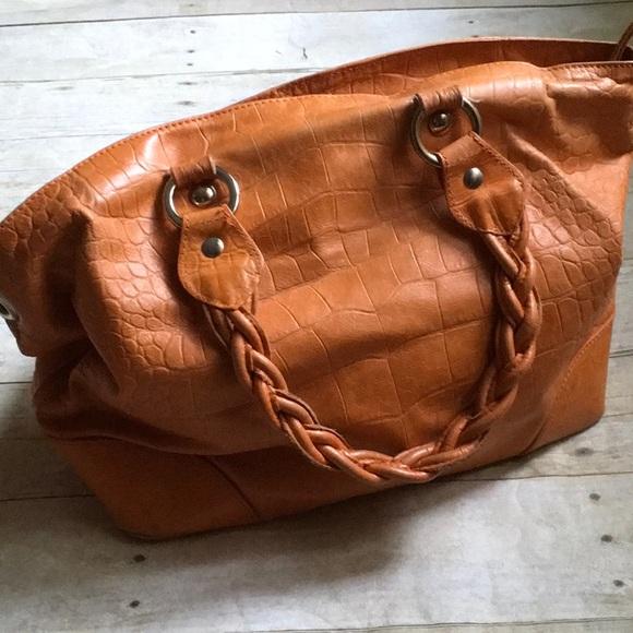 5e857f1bf9 Roberta Gandolfi made in Italy leather bag orange.  M 5b60b22adcfb5a3930a095ed